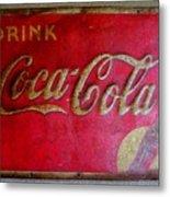 Vintage Coca-cola Sign Metal Print