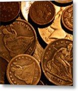 Vintage Coins Metal Print