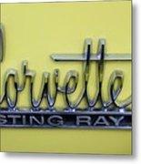 Vintage Corvette Sting Ray Emblem Metal Print