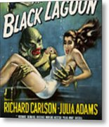 Vintage Creature From The Black Lagoon Poster Metal Print