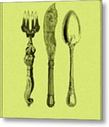 Vintage Cutlery 4 Metal Print