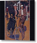 Vintage Cycle Poster March Davis Cycle 100 Dollars Metal Print