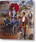 Vintage Cycle Poster Prinetti Stucchi Unica Grande Fabbrica Italiana Milano Metal Print