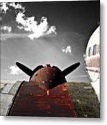 Vintage Dc-3 Aircraft  Metal Print by Steven  Digman