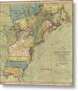 Vintage Discovery Map Of The Americas - 1771 Metal Print