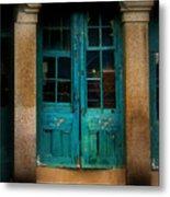 Vintage Doors Metal Print