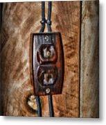 Vintage Electrical Outlet Metal Print