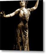 Vintage Exotic Dancer Metal Print