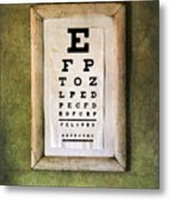 Vintage Eye Chart Metal Print