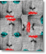 Vintage Faces Metal Print