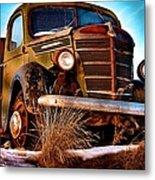 Vintage Farm Truck Metal Print