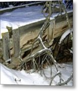 Vintage Farm Wagon Metal Print