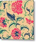 Vintage Flower Design Metal Print