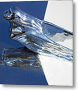 Vintage Flying Lady Hood Ornament Metal Print