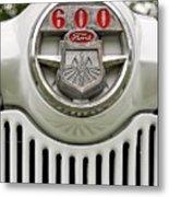 Vintage Ford 600 Nameplate Emblem Metal Print
