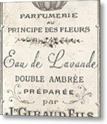 Vintage French Perfume Sign Metal Print
