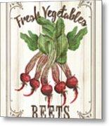 Vintage Fresh Vegetables 1 Metal Print