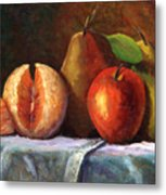 Vintage-fruit Metal Print