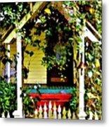 Vintage Garden Arbor Gate Metal Print