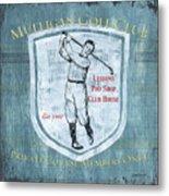 Vintage Golf Blue 1 Metal Print