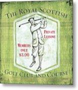 Vintage Golf Green 1 Metal Print