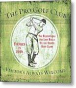 Vintage Golf Green 2 Metal Print
