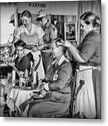 Vintage Hair Dresser Metal Print