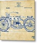 Vintage Harley-davidson Motorcycle 1919 Patent Artwork Metal Print