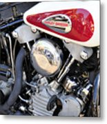 Vintage Harley V Twin Metal Print by David Lee Thompson