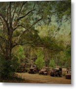 Vintage Harvey Trucks In Northwest Florida Metal Print