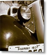 1937 Ford Pickup Truck Maui Hawaii Metal Print