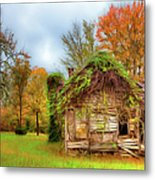 Vintage House Surrounded By Autumn Beauty Ap Metal Print