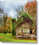 Vintage House Surrounded By Autumn Beauty Metal Print