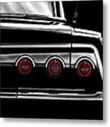 Vintage Impala Black And White Metal Print