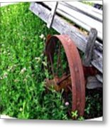 Vintage Irrigation Wagon Metal Print