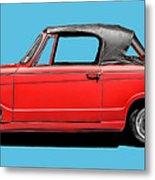 Vintage Italian Automobile Red Tee Metal Print