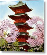Vintage Japanese Art 21 Metal Print