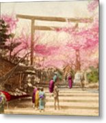 Vintage Japanese Art 25 Metal Print