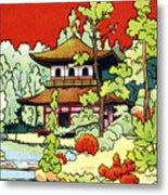Vintage Japanese Art 7 Metal Print