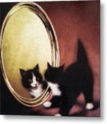 Vintage Kitty Cat Metal Print