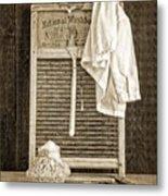 Vintage Laundry Room Metal Print by Edward Fielding