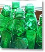 Vintage Lemonade Glass Bottles Metal Print