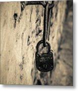 Vintage Lock Metal Print