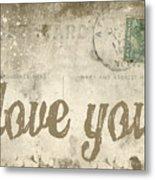 Vintage Love Letters Metal Print