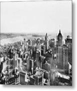 Vintage Lower Manhattan Skyscraper Photo - 1913 Metal Print