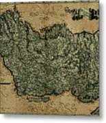 Vintage Map Of Ireland 1771 Metal Print