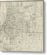 Vintage Map Of Memphis Tennessee - 1911 Metal Print