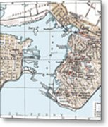 Vintage Map Of St. John New Brunswick - 1894 Metal Print