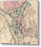 Vintage Map Of Trenton Nj - 1872 Metal Print