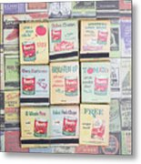 Vintage Matchbooks Metal Print